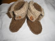 Hand-knitted Bootees